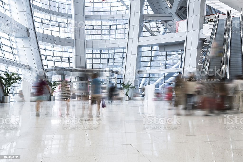 busy shopping mall royalty-free stock photo
