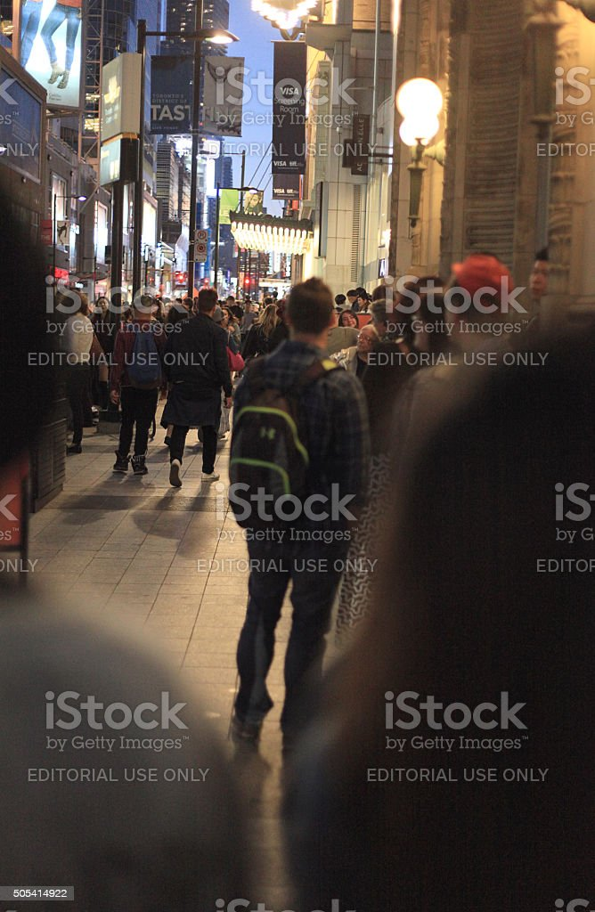 busy side walk during Tiff stock photo