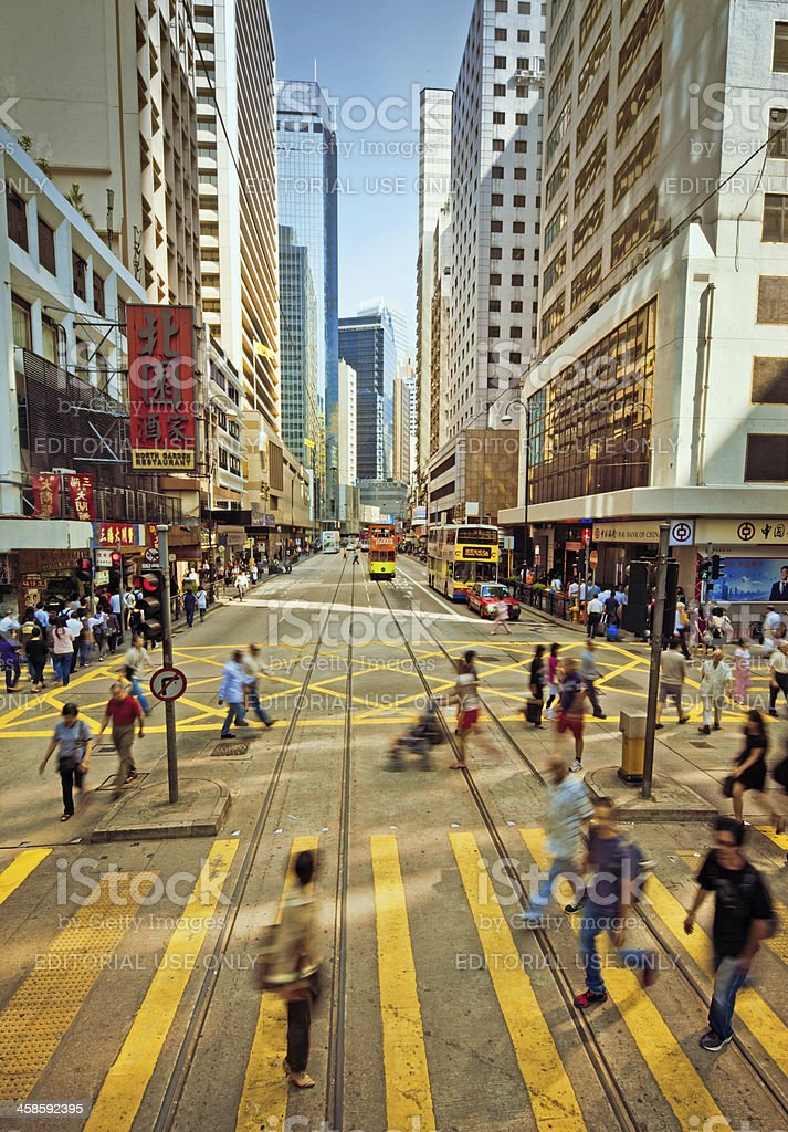 Busy Street in Hong Kong royalty-free stock photo