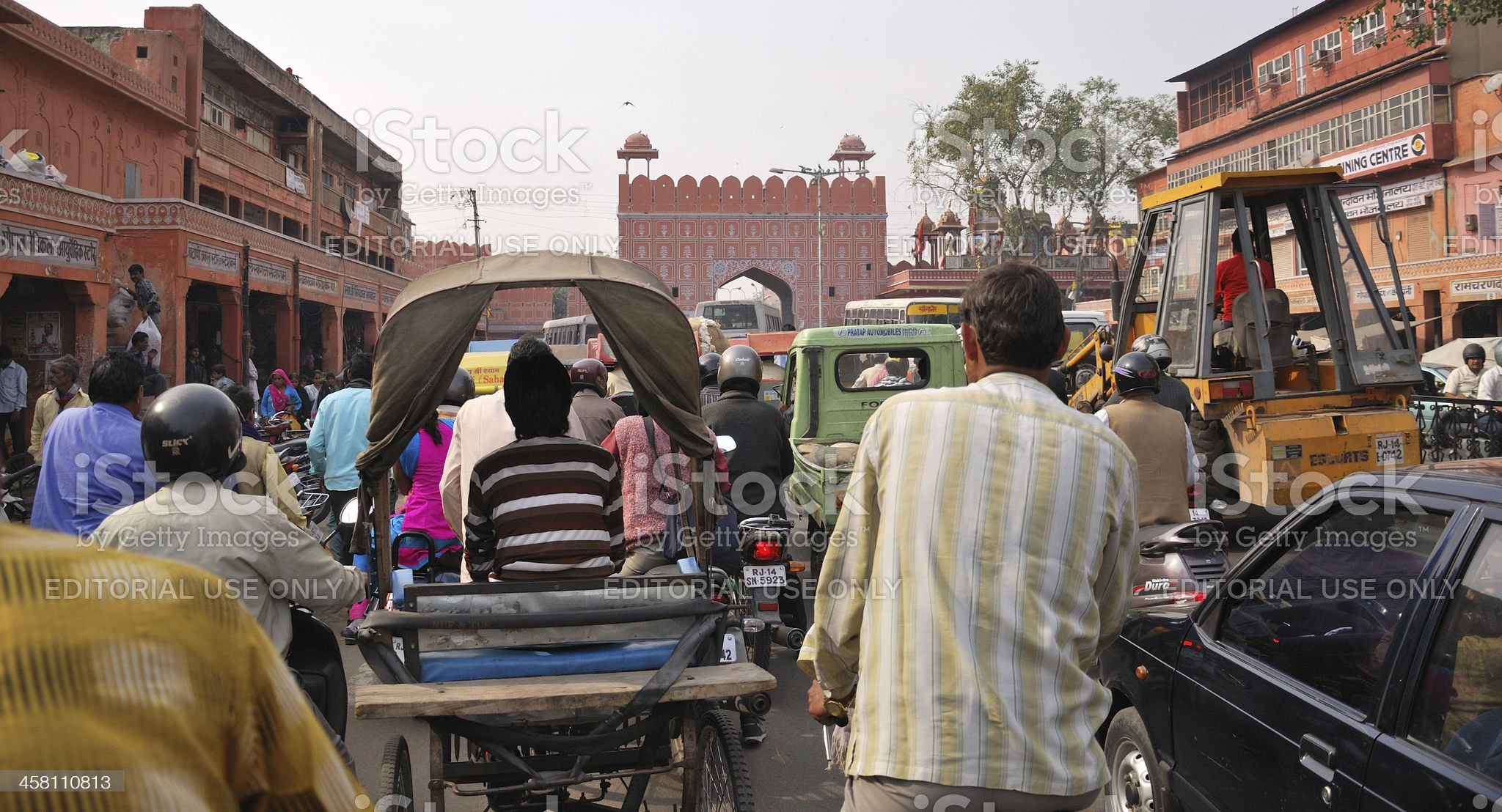 Busy street in Jaipur. India royalty-free stock photo