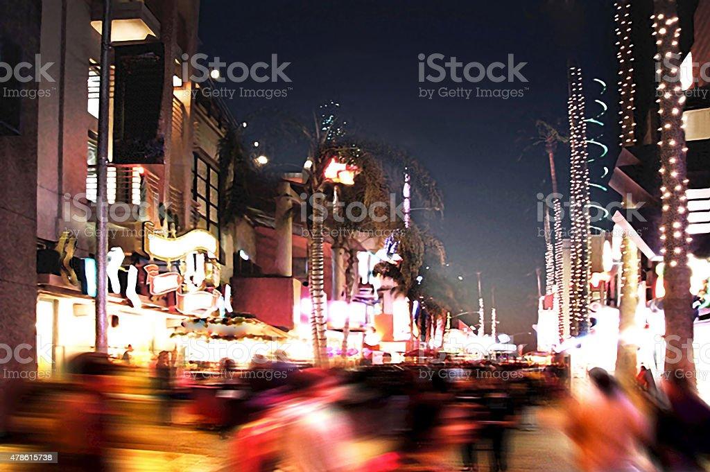Busy Street Life in LA stock photo