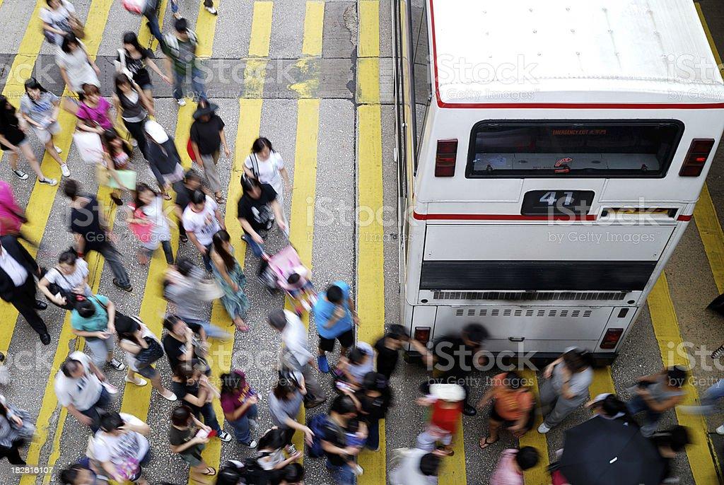 Busy Street MongKok Hong Kong royalty-free stock photo