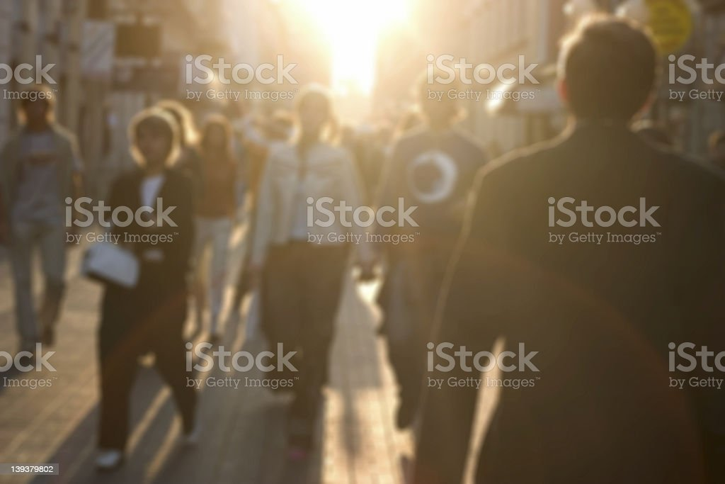 Busy street stock photo