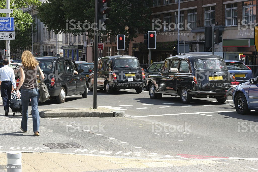 Busy street royalty-free stock photo