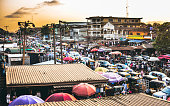 Busy streets of Lagos, Nigeria.