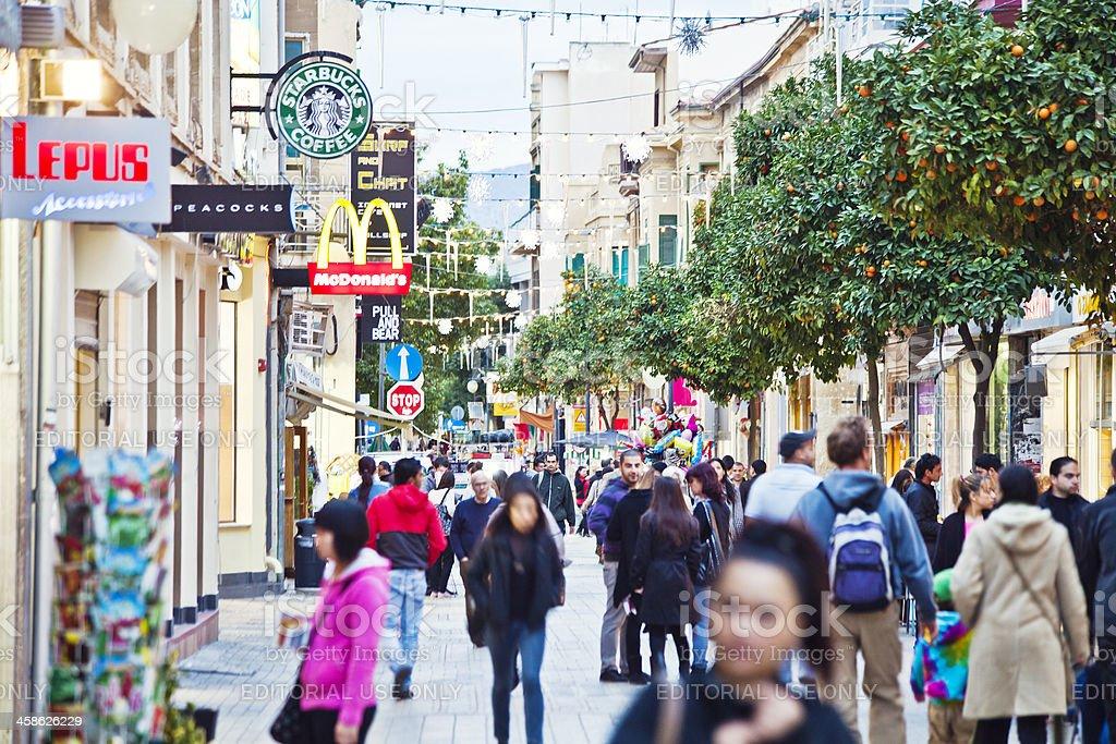 Busy streets of Nicosia. stock photo