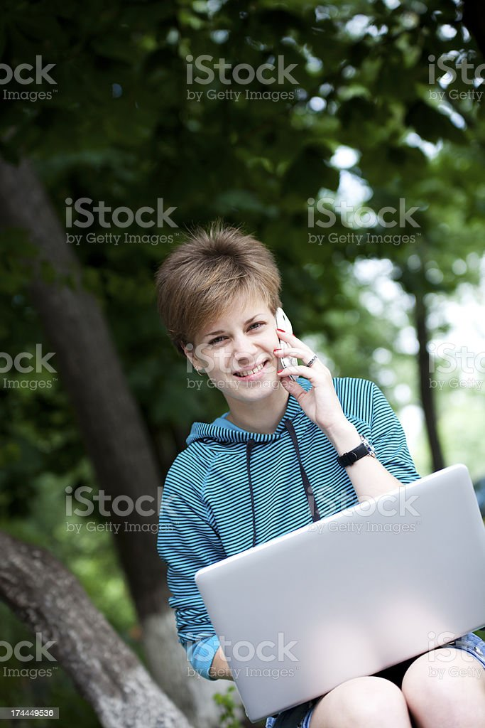 Busy Student Girl royalty-free stock photo