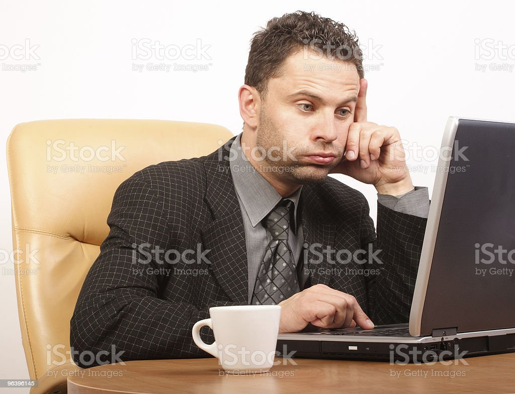 busy time in stressful job royalty-free stock photo