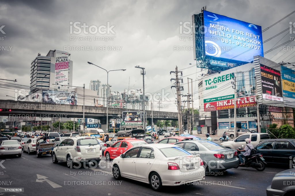 Busy Traffic In Bangkok stock photo