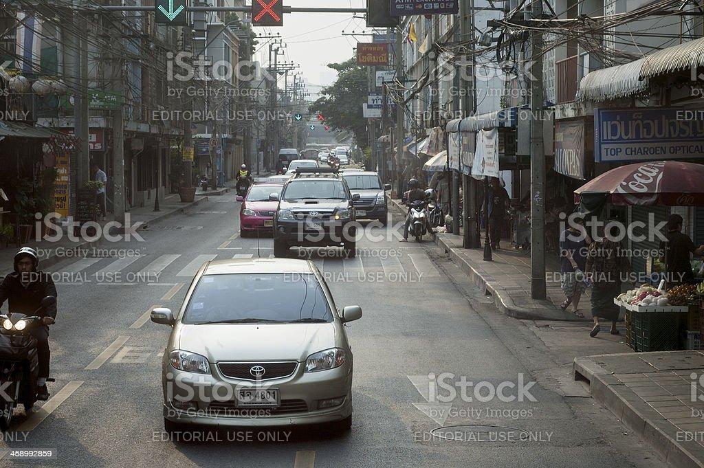 Busy Traffic In Bangkok stock photo