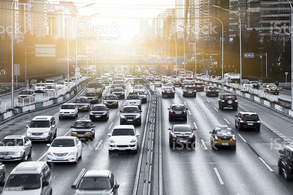busy traffic stock photo