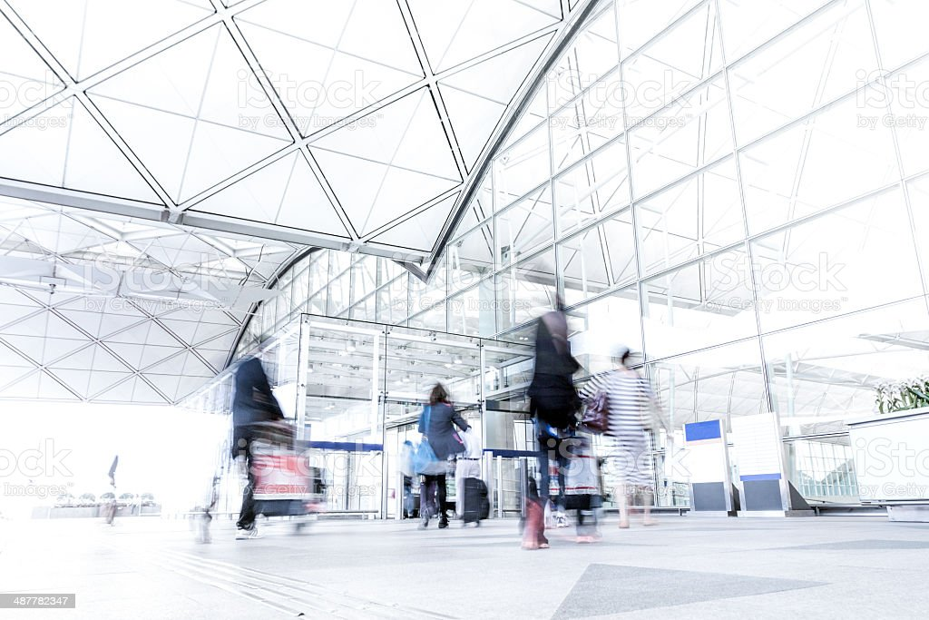 Busy Travelers Concepts stock photo