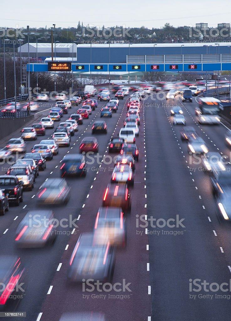 Busy urban motorway royalty-free stock photo