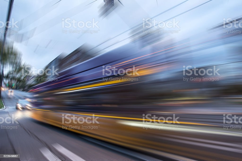 busy vehicles on road in seattle stock photo