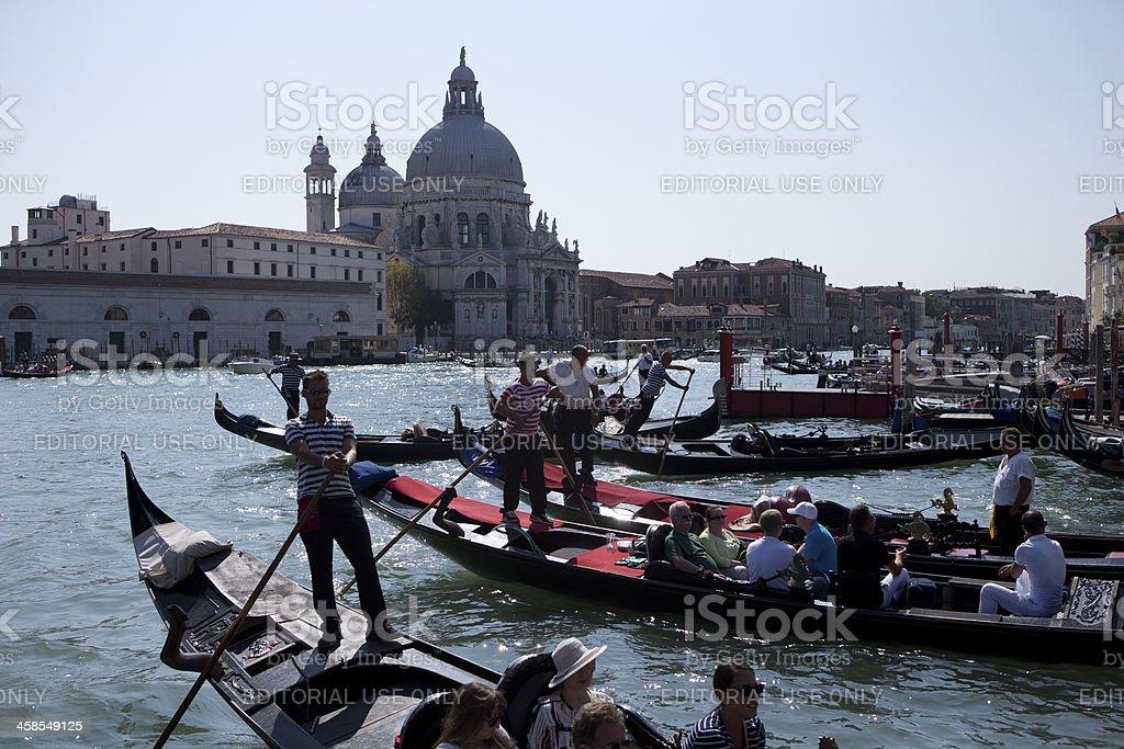 Busy Venice royalty-free stock photo