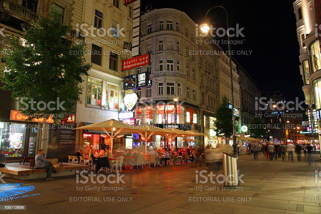 Busy Vienna Night stock photo