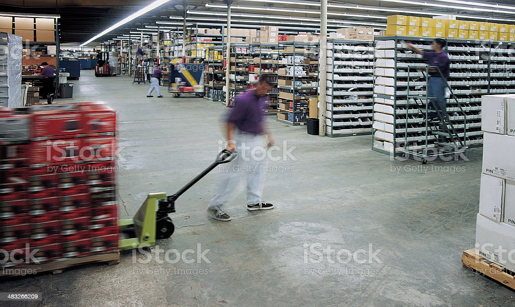 Busy Warehouse royalty-free stock photo