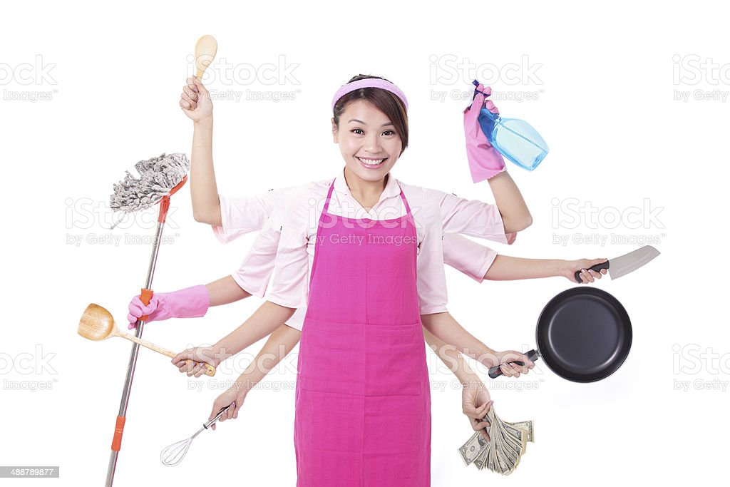 busy Woman mother royalty-free stock photo
