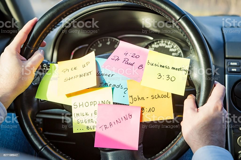 busy work do post notes list chaotic concept stock photo