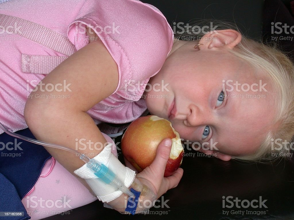 But An Apple a Day Does Not Always Work stock photo