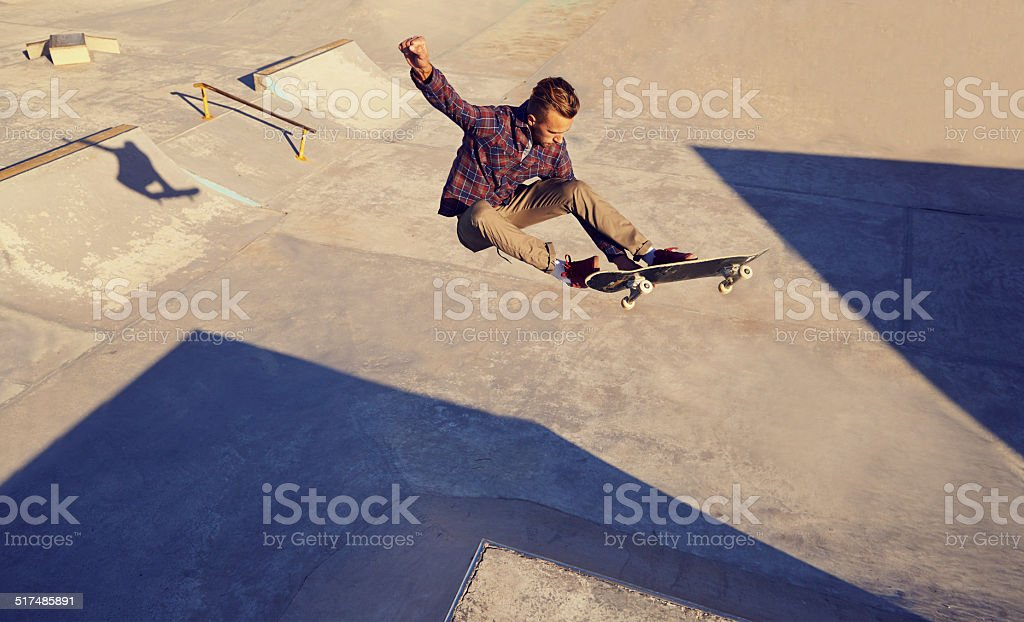 But can he land it...? stock photo