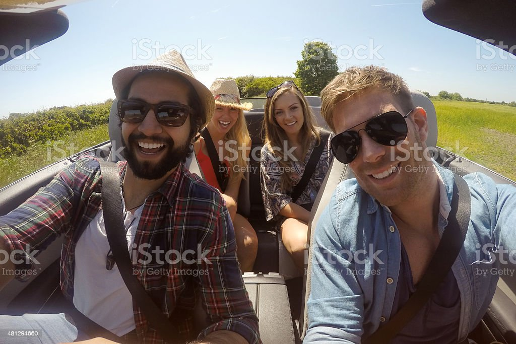 'But first, let's take a selfie!' stock photo