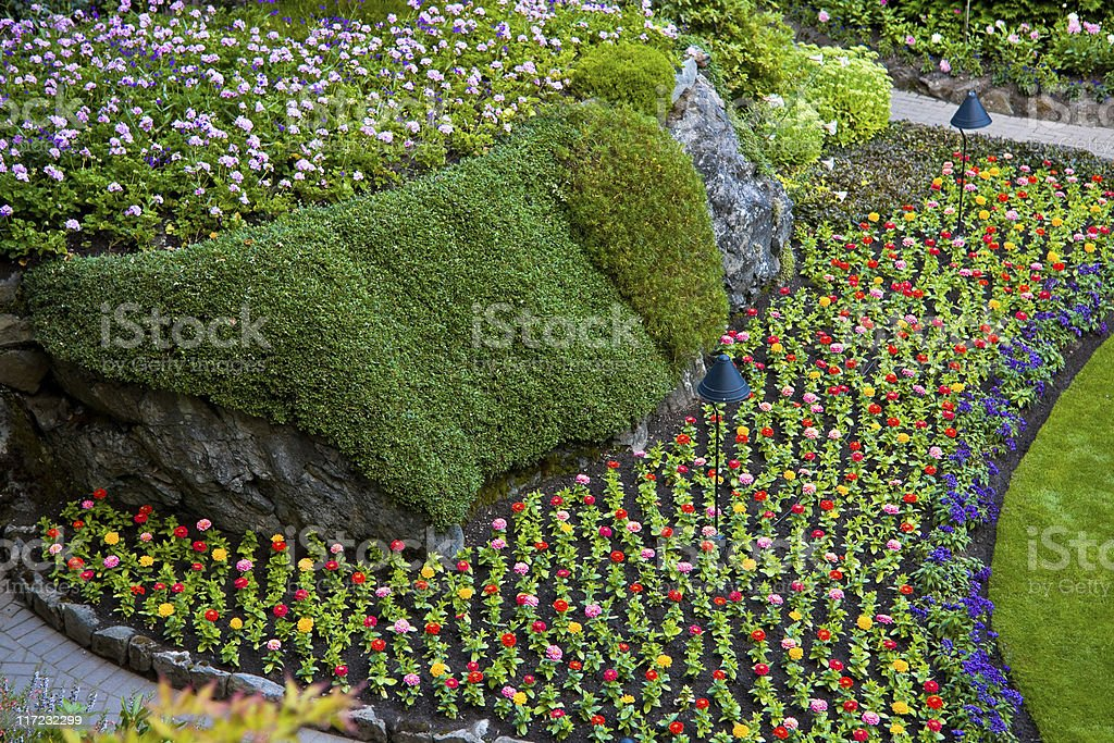 Butchart Gardens, Victoria stock photo