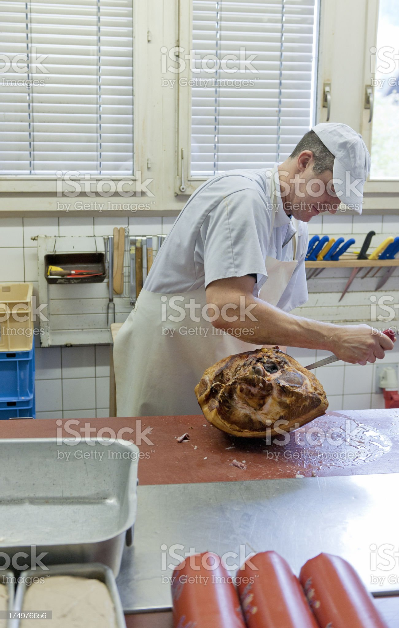 butcher at work royalty-free stock photo