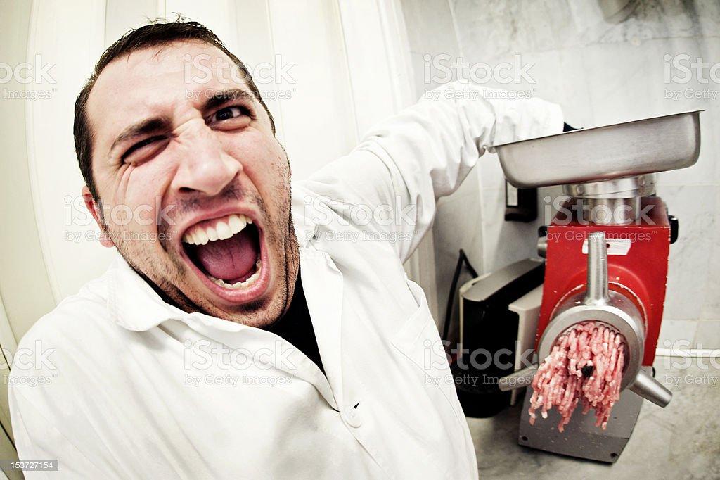 butcher, Bleach cross processing stock photo