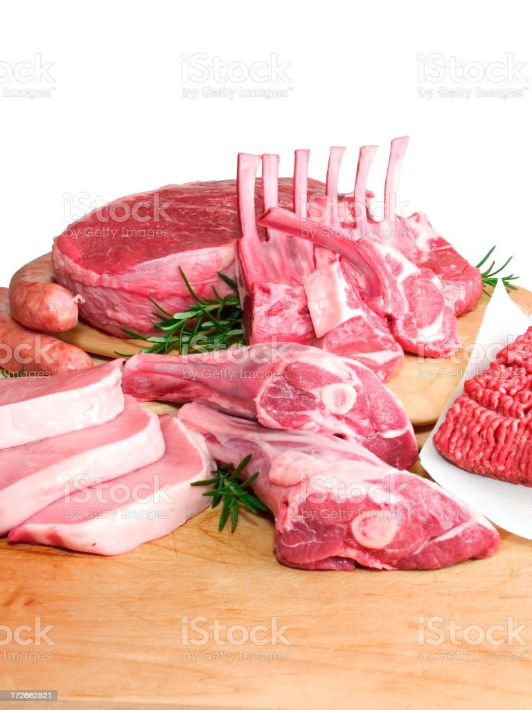 Butcher Fresh Meat royalty-free stock photo