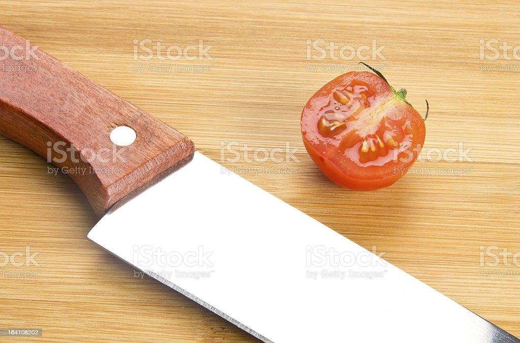 Butcher kitchen knife royalty-free stock photo