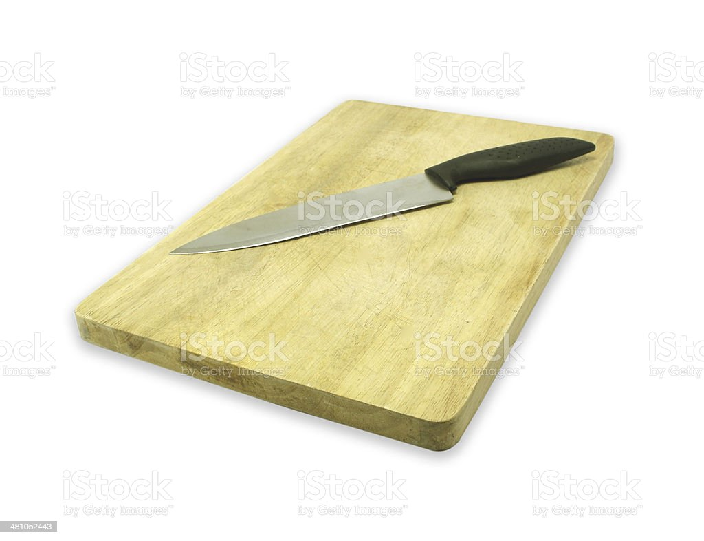 butcher knife on a white background. royalty-free stock photo
