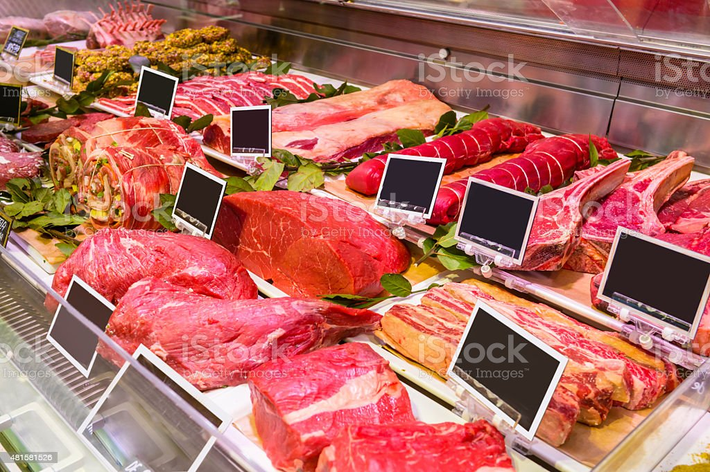 Butcher shop stock photo