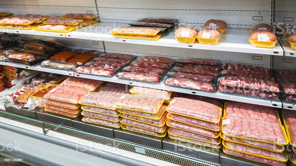 Butcher shop stock photo
