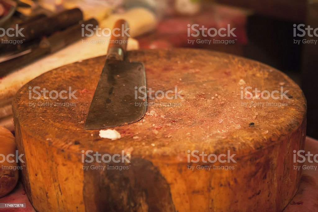 Butcher's Block, Knife stock photo