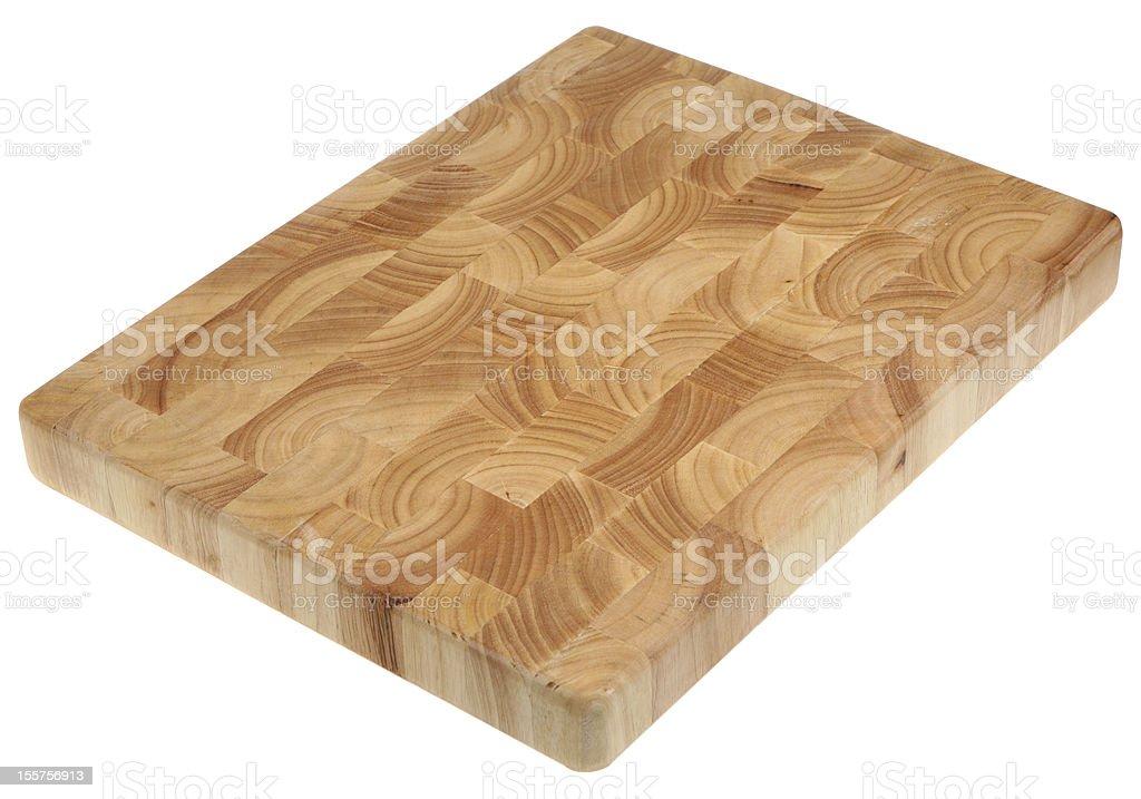 Butcher's Block Wooden Chopping Board stock photo