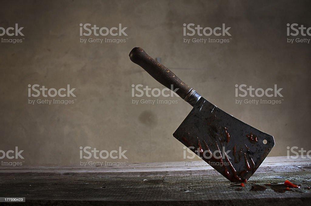 Butcher's knife stock photo