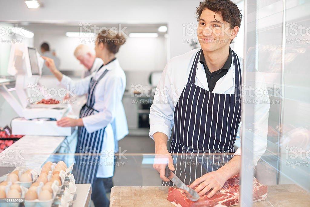butcher's shop stock photo