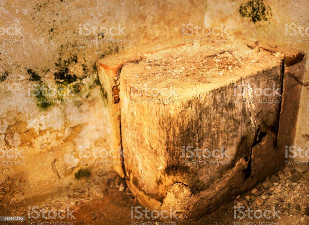 Butchers wood block stock photo