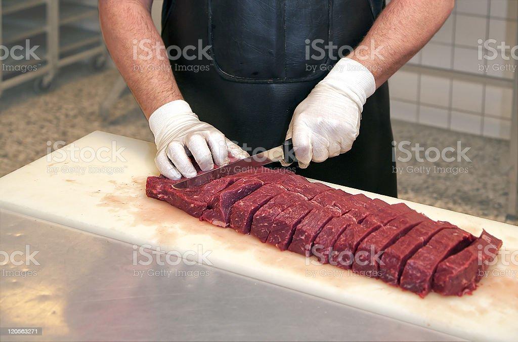 Butchers workstation stock photo