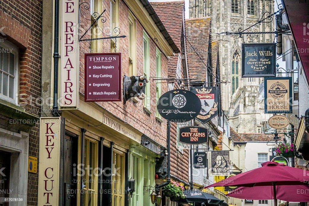Butchery Lane, Canterbury, UK stock photo
