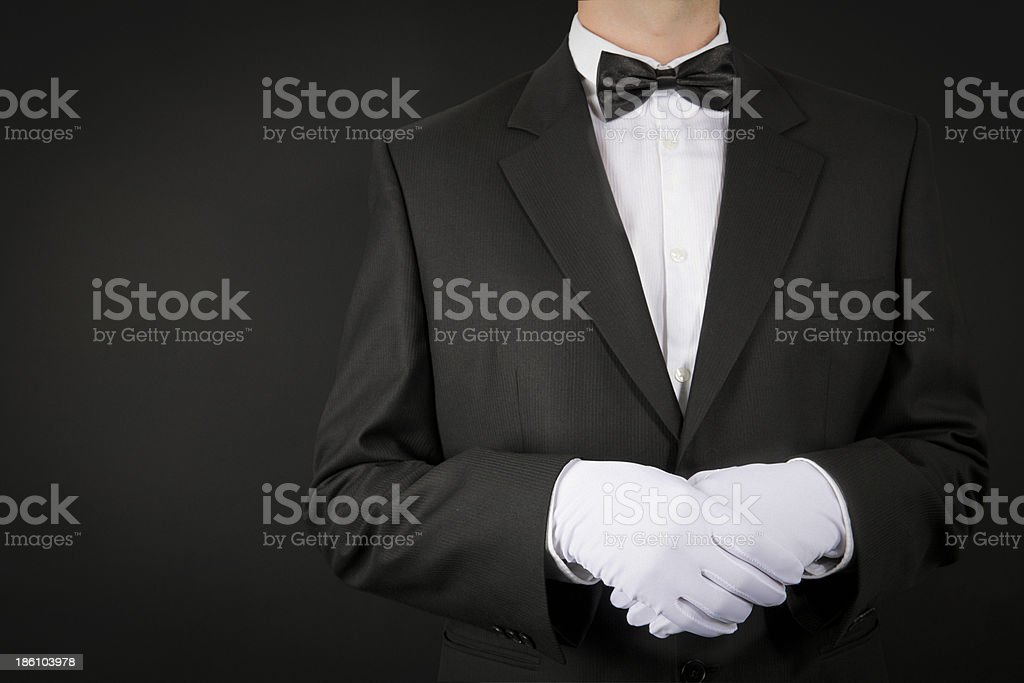 Butler at Your Service royalty-free stock photo