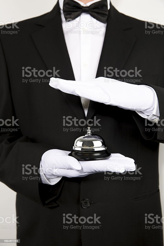 Butler is Ringing royalty-free stock photo
