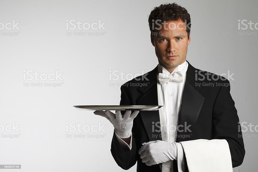 Butler or Waiter stock photo