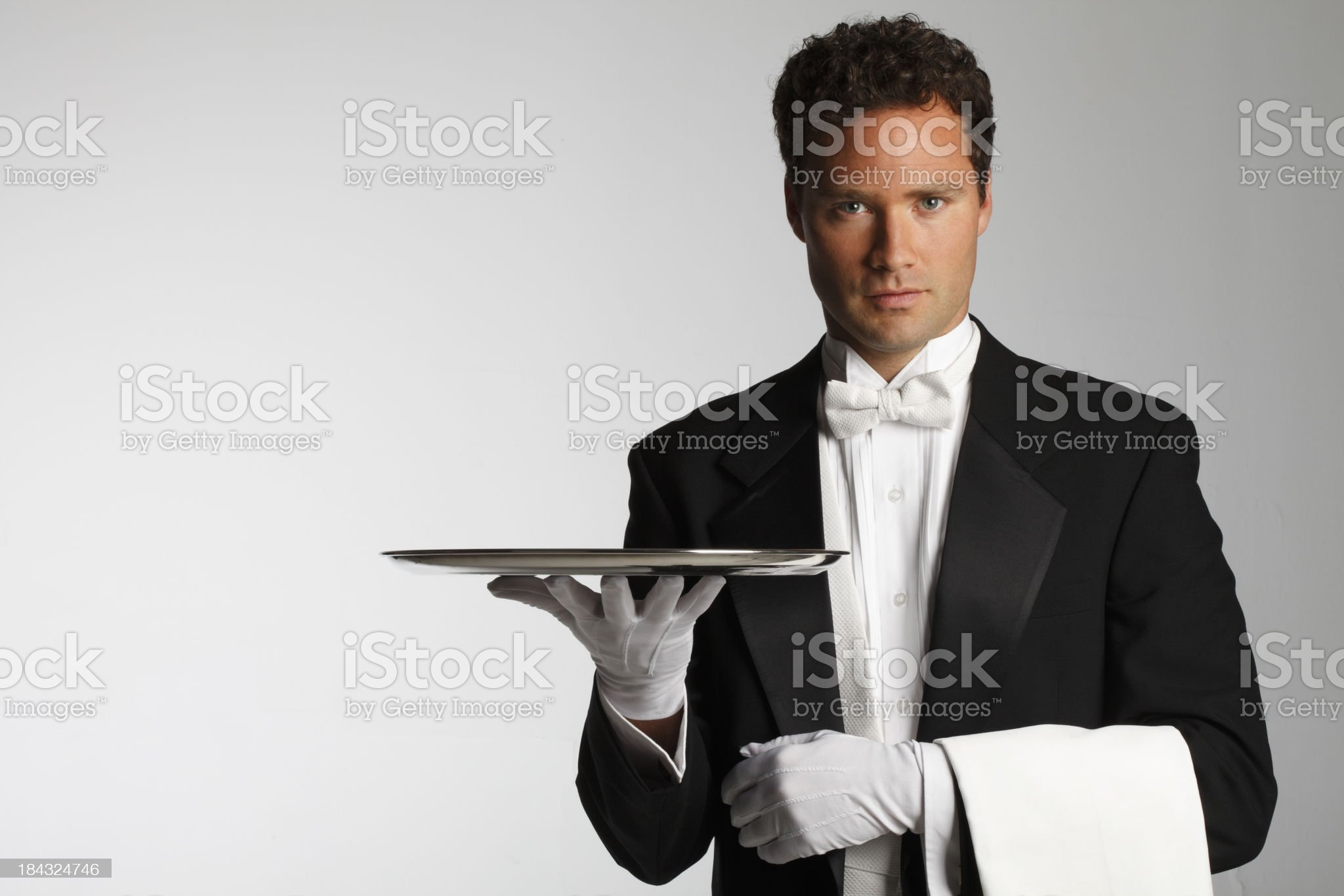 Butler or Waiter royalty-free stock photo
