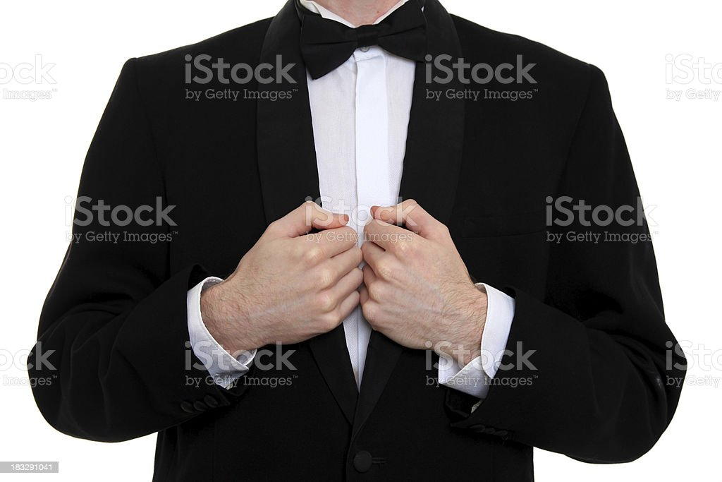 Butler ready to serve royalty-free stock photo