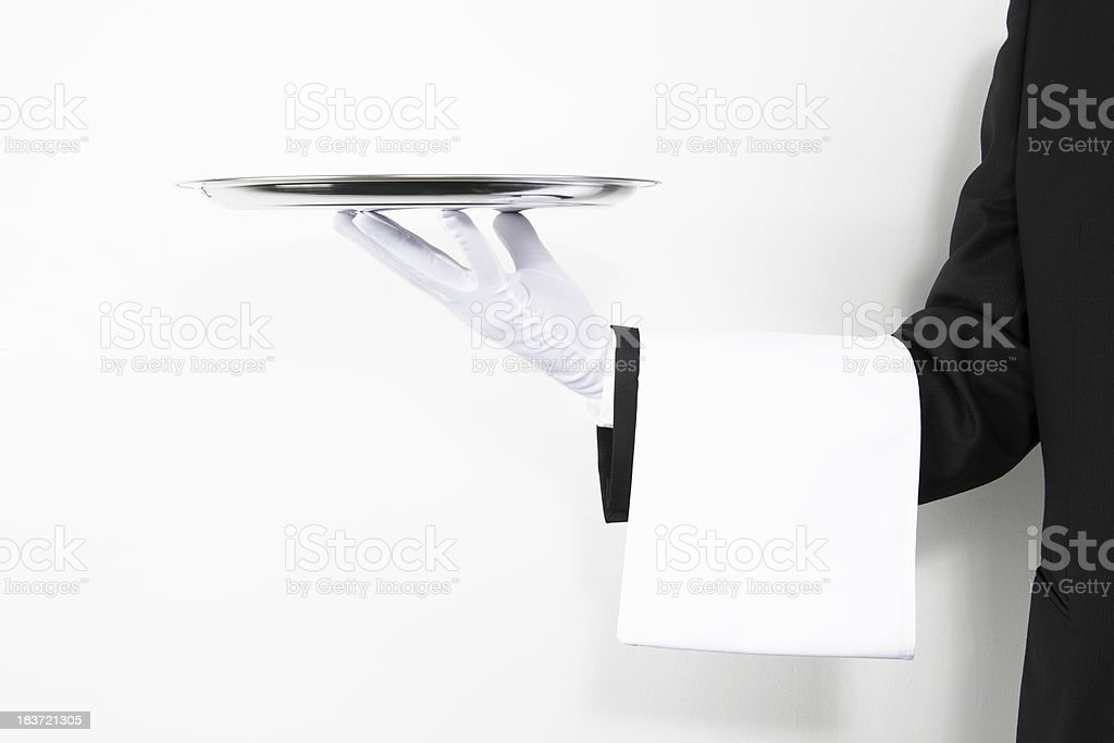 Butler Serving stock photo