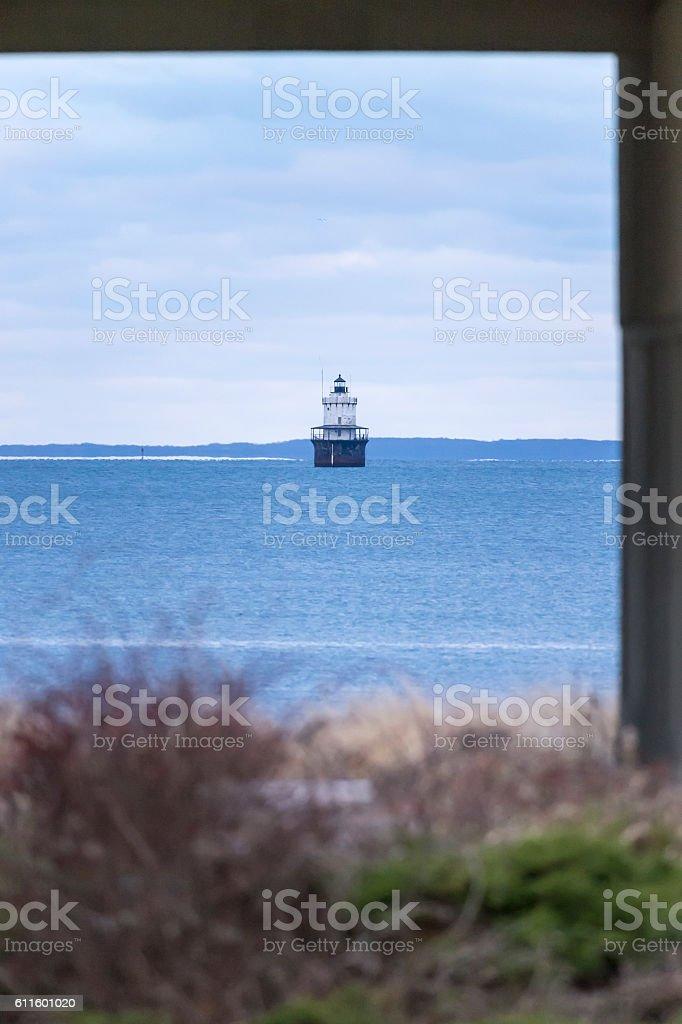 Butler's Flat lighthouse stock photo