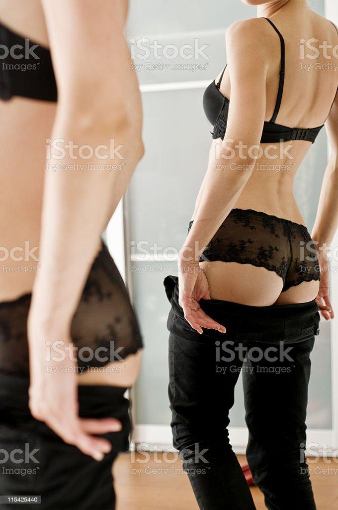 butt mirror royalty-free stock photo