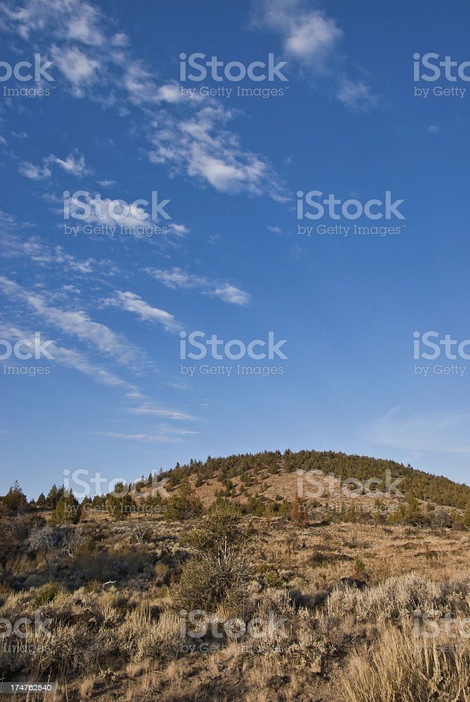 Butte Above Indian Wells royalty-free stock photo